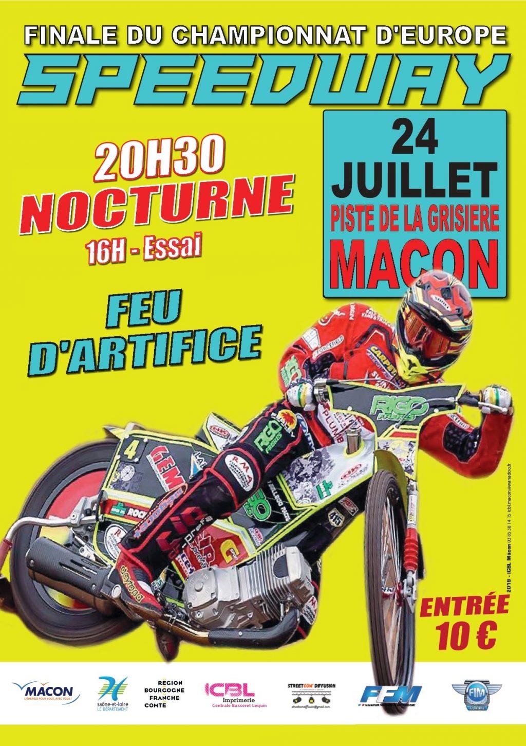 Affiche Speedway Europe AMCM 2021